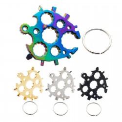 Multifunctional screwdriver - snowflake shaped - keychain