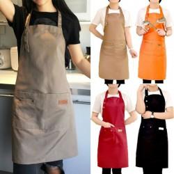 Adult size apron - bib - with 2 waist pockets
