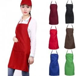 Kitchen / work apron - with adjustable straps / pocket - restaurant / chef
