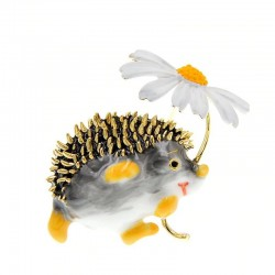 Cute hedgehog brooch