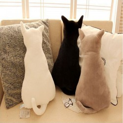 Katzenförmiges Kissen - Plüschtier - 45cm
