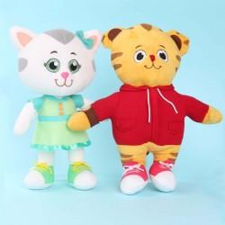Tiger und Kätzchen - Plüschpuppen - Spielzeug - 2 Stück