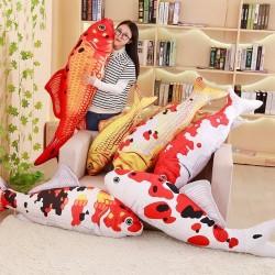 Brocade carp plush toy - koi fish - 60cm