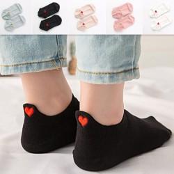 Short socks - ankle length - with a heart - unisex