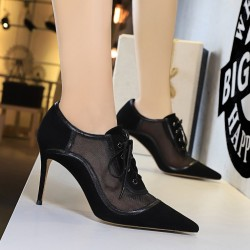 Sexy high heels - cross-tied - ankle length - lace-up