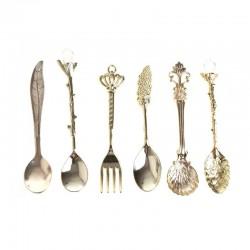 Vintage tableware set - coffee spoons - 6pcs
