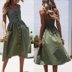 Summer dress - sleeveless - stripes design