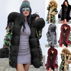 Long parka down jacket - with fur hood - waterproof