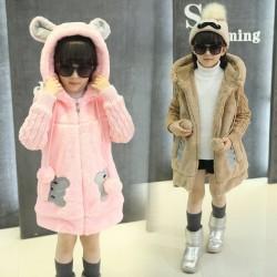 Warm fur coat - polar jacket - with hood