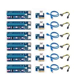 PCI-E-Riser-Karte 006C - Bitcoin Miner - 1x bis 16x - USB 3.0