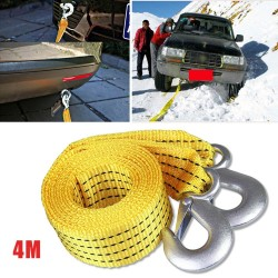 Car towing pull rope - with hook - 5 ton - 4M