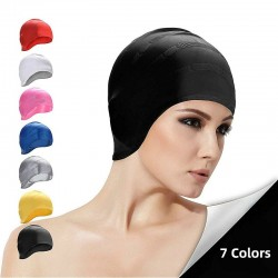 Women swimming cap - silicone - ear protection - waterproof