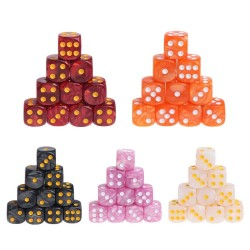 Board game dices - acrylic polyhedral - 10 pieces