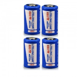 Cr2 rechargeable lithium battery- 880mah - LiFePO4
