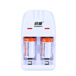 2pcs Cr2 rechargeable battery - 200mAh - with Cr2/CR123A universal smart charger