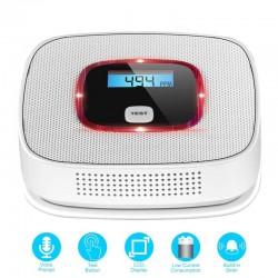 LCD - carbon monoxide gas alarm - poisoning / smoke tester - detector - sensor - monitor