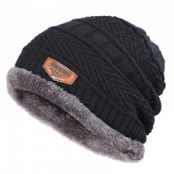 Thick cotton beanies for men