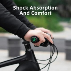 Bicycle handlebar covers - silicone / sponge grips - anti-skid / shock-absorbing - ultraight