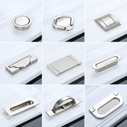 Hidden furniture handles - recessed cover - zinc alloy
