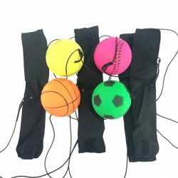 Rubber ball - with elastic string - wrist training