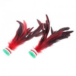 Feather shuttlecock - kicking toy - Chinese Jianzi - 2 pieces