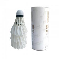 Badminton shuttlecock - white goose feather - 3 - 6 pieces