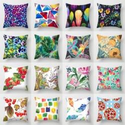Cushion covers - flowers / rainbow / feathers - 40 * 40cm - 45 * 45cm - 50 * 50cm - 55 * 55cm - 60 * 60cm