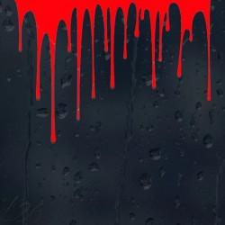 Dripping blood - vinyl car sticker