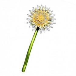 Green dandelion flower - brooch