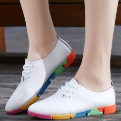 Flat shoes with rainbow...