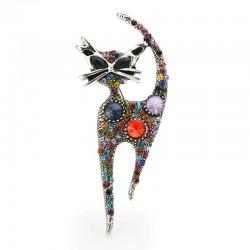 Multicolor crystal cat -...