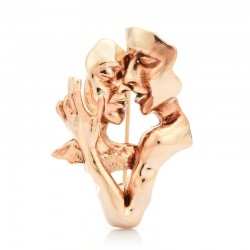Abstract lovers - couple - brooch