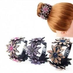 Floral hair clip - bun...