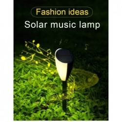 Gartenlampe mit Musik - Solar - wasserdicht - LED - Frosch / Zikaden Sound - 2 Stück