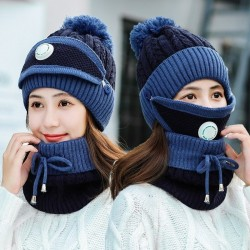 2 in 1 - knitted beanie / mask - warm protective gear