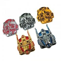 3D transformers - Metallemblem - Autoaufkleber