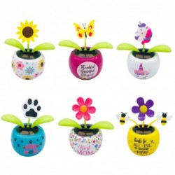 Solar dancing flower decor accessories