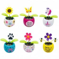 Solar dancing flower decor accessories