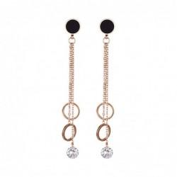 Rose gold long earrings -...