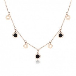 Gold necklace - round...