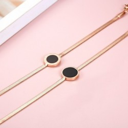 Rose gold bracelet - with roman numerals
