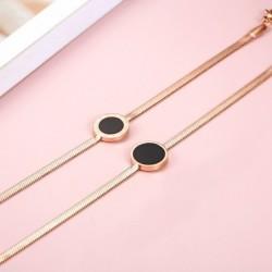 Rose gold bracelet - with...