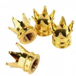 Car valve caps - gold crown...