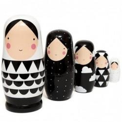 Russian matryoshka - wooden...