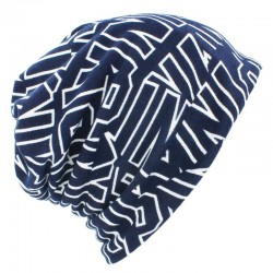 Beanie / scarf - 2 in 1 hat - with lettering design