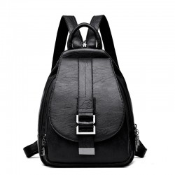 Leather backpack - with...