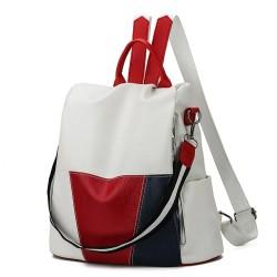 Leather backpack - shoulder...