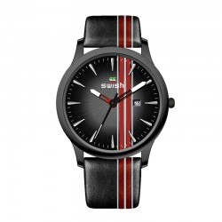 Sports leather watch -...
