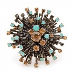 Elegant high quality rhinestone vintage flower brooche - for every woman For Women Coat Elegant Brooch High Quality Jewelry Aut