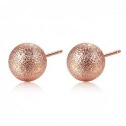 Rose gold metal ball - stud...